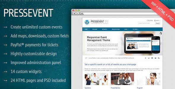 press event 35 Impressive WordPress Themes of April 2012