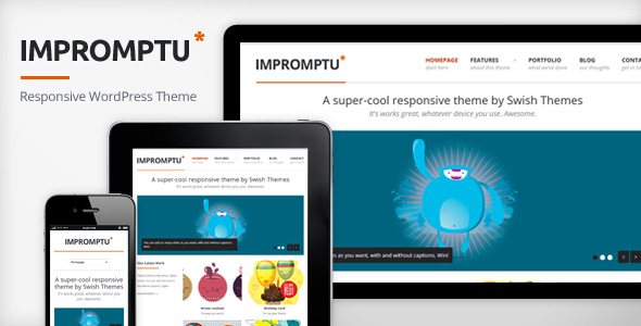 impromptu 35 Impressive WordPress Themes of April 2012