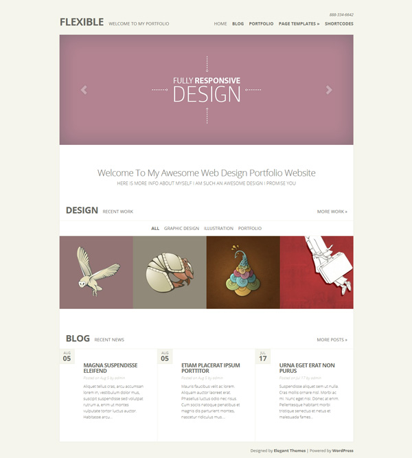 flexible Best 30 WordPress Themes of June 2012