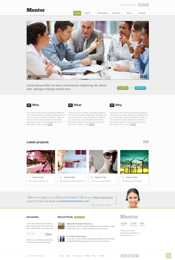 mentor Best 30 WordPress Themes of June 2012