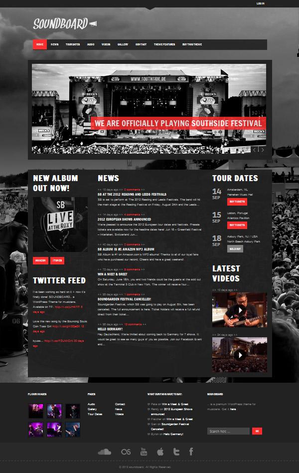 soundboard Best 30 WordPress Themes of June 2012