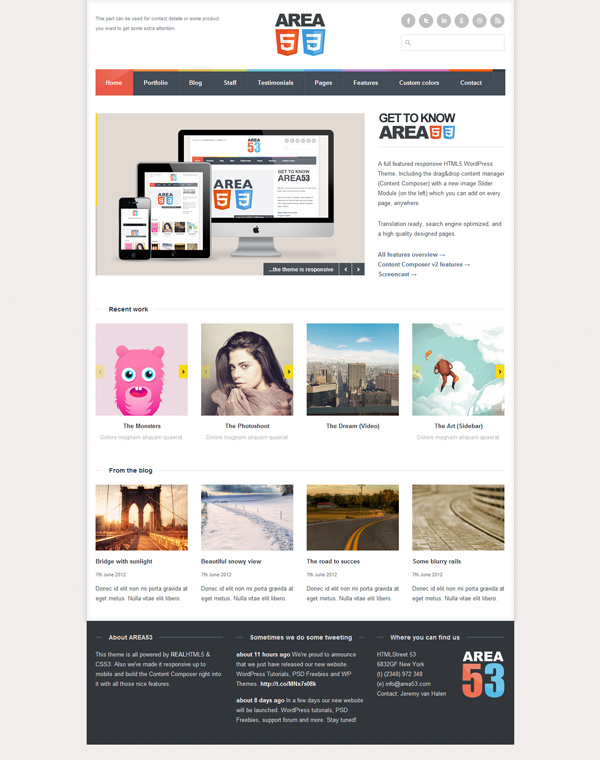 area 53 Best 30 WordPress Themes of June 2012
