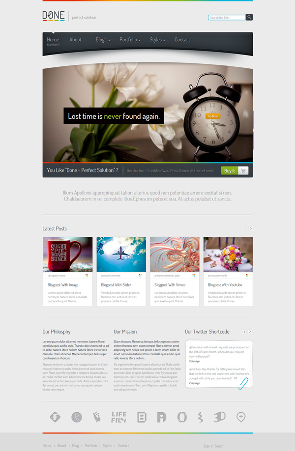 done Best 30 WordPress Themes of June 2012