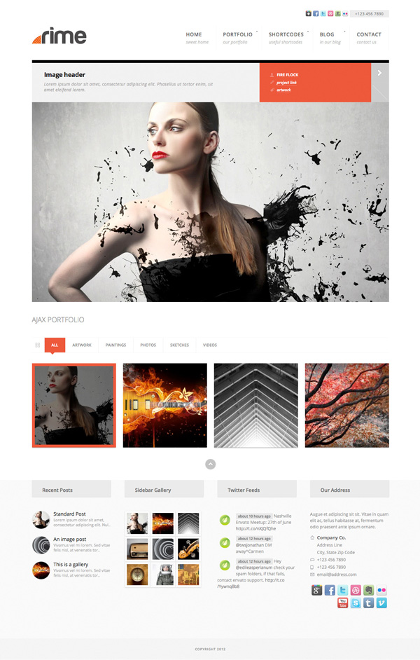 rime Best 30 WordPress Themes of June 2012
