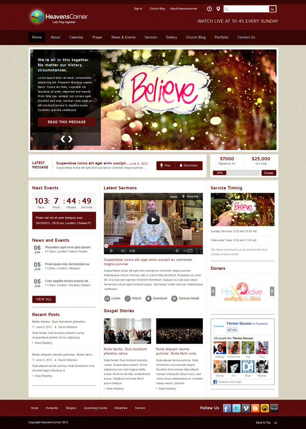 heavens corner Best 30 WordPress Themes of June 2012