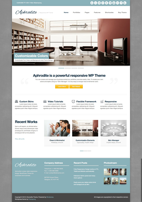 aphrodite Best 30 WordPress Themes of June 2012