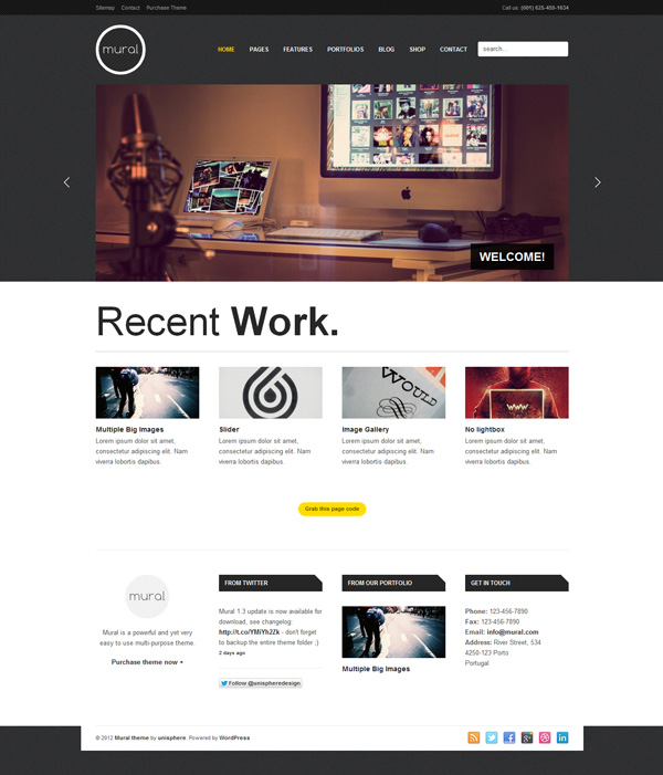 mural Best 30 WordPress Themes of June 2012