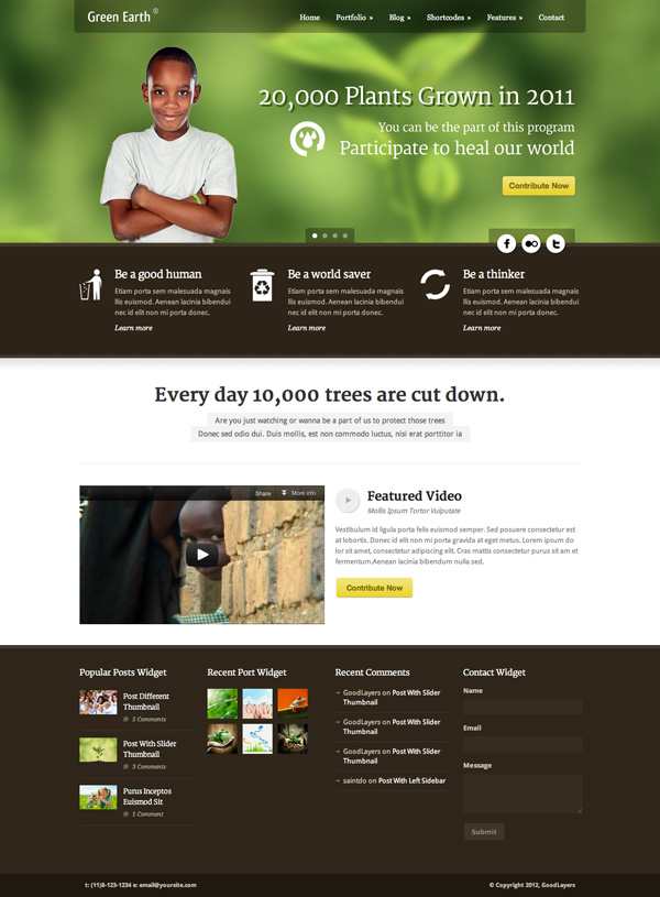 green earth Best 30 WordPress Themes of June 2012