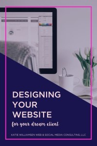 Designing Your Website for Your Dream Client // Katie Williamsen Web & Social Media, LLC