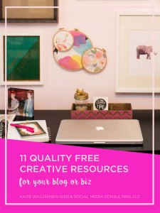 11 Quality Free Creative Resources for Your Blog or Biz Katie Williamsen Web & Social Media, LLC