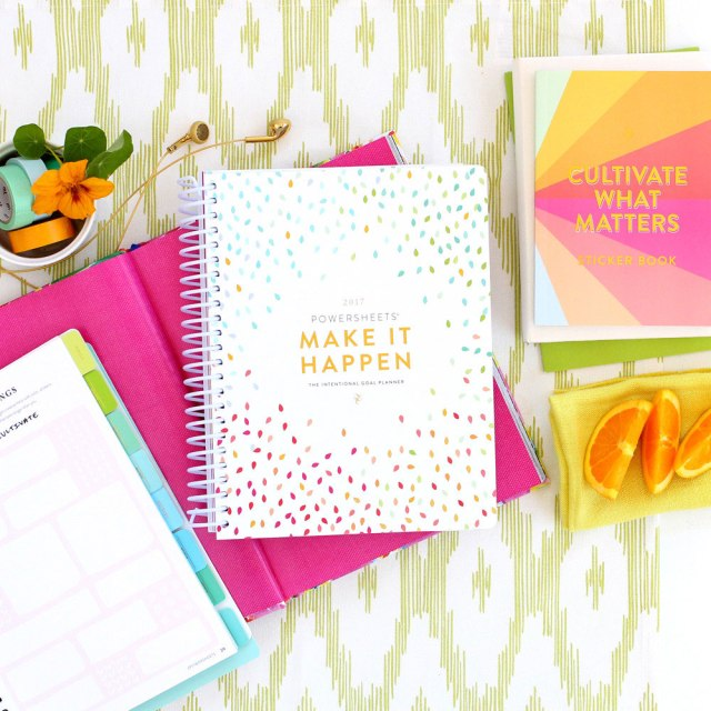 Goal setting for 2017 with PowerSheets from Cultivate What Matter's