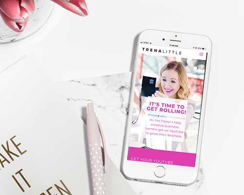 Trena Little // Website Homepage Redesign - Mobile Homepage