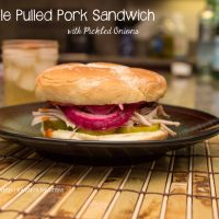 #SundaySupper Apple Pulled Pork Sandwich with Pickled Onions