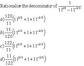 Rationalize The Denominator