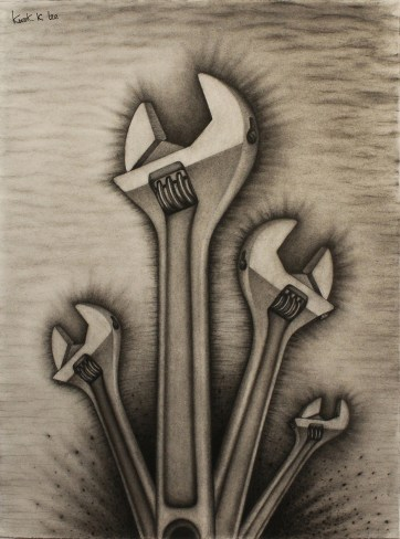 Life of Tools (Charcoal, pencil)