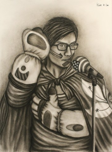 Symbolic Self Portrait (Charcoal)