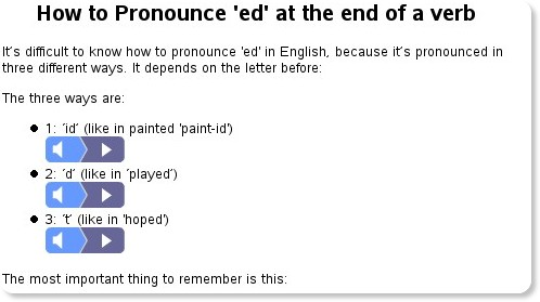 http://www.perfect-english-grammar.com/how-to-pronounce-ed.html