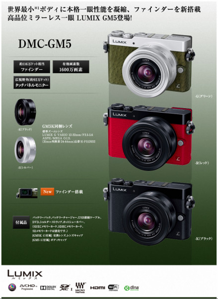 デジタル一眼カメラ/レンズキット LUMIX「GM5」(DMC-GM5/DMC-GM5K) 「GM5」デジタルカメラ| モニター販売