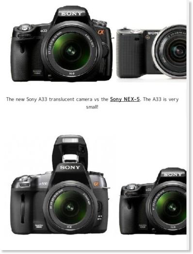 http://www.sonyalpharumors.com/sr5-exclusive-more-pictures-a55-vs-a33-vs-nex-5-vs-a550-vs-a350-size-comparison/