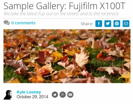 Sample Gallery: Fujifilm X100T - Reviewed.com Cameras