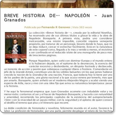 http://www.hislibris.com/breve-historia-de-napoleon-juan-granados/