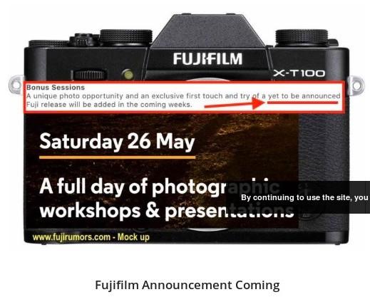 https://www.fujirumors.com/fujfilm-announcement-coming-within-2-weeks-fujifilm-x-t100-instax-sq6-and-surprises/