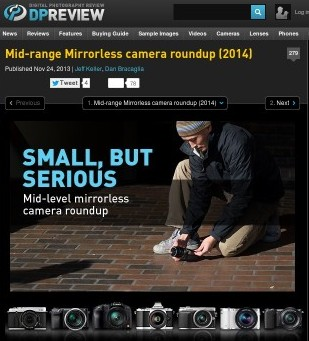 Mid-range Mirrorless camera roundup (2014): Digital Photography Review