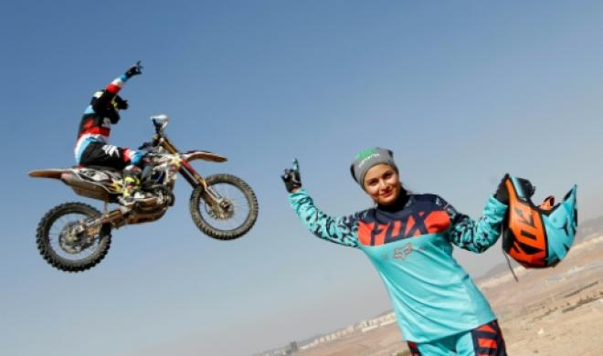 This Iranian female motorbiker is everything you think she's not