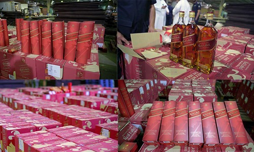 Attempt to smuggle 6,488 bottles of liquor in Kuwait