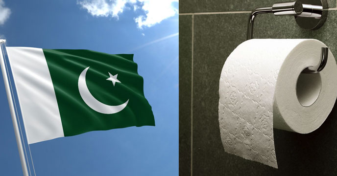 Pakistan flag 'the best toilet paper in the world' according to Google