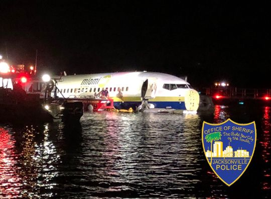 Flight from Guantanamo Bay with 136+ on board crashes in Florida river; everyone safe