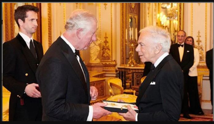 An honorary received by ralph lauren in knighthood london