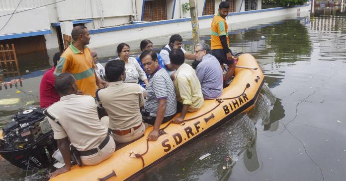 Deputy CM of Bihar Sushil Modi and his family rescued from their home in Patna after 3 days