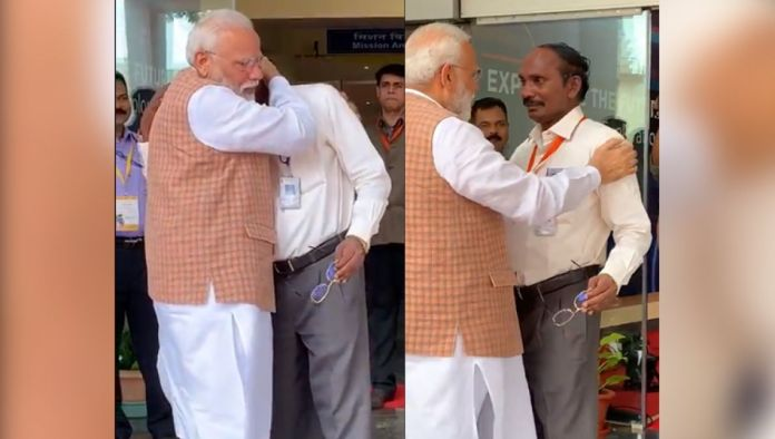 Watch Video: ISRO chairman K Sivan gets heartfelt, PM Modi consoles
