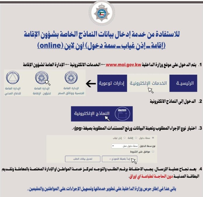 Kuwait: Foreigners now can submit an online application for residency revocation