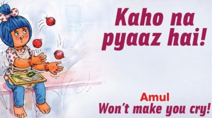 Amul's special onion price increase commercial has a Hrithik Roshan twist
