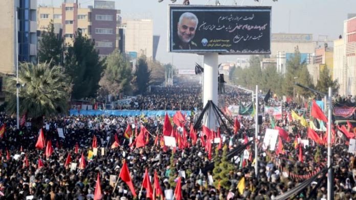 More than 35 civilians annihilated in a horrific stampede at Qassem Soleimani's funeral