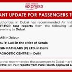 COVID-19 test reports from some Indian labs invalid for Dubai-bound passengers