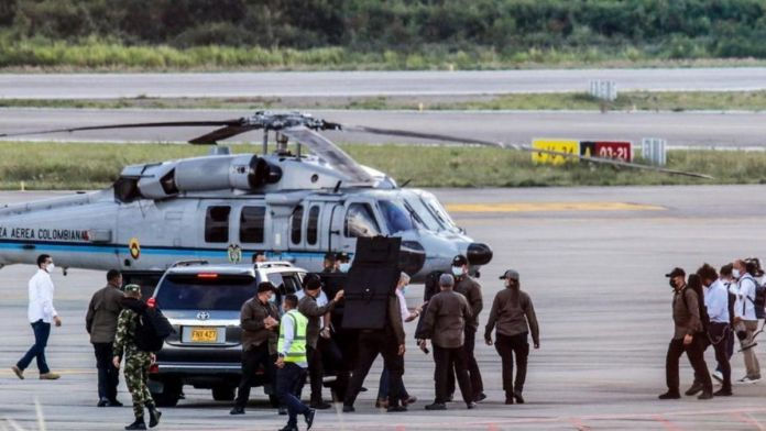 Colombian President's helicopter attacked by gunfire