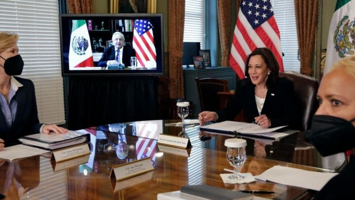 Kamala Harris under pressure to visit the US-Mexico border to tackle a migration spike.