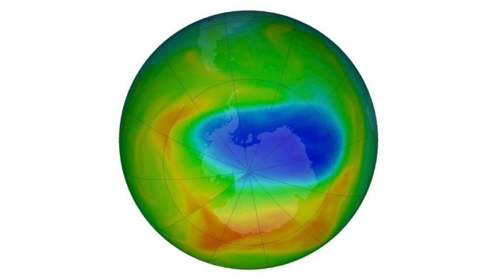 The Ozone layer hole over Southern Hemisphere now larger than Antarctica
