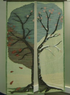 In 2013, this woven screen of a Four Season Tree won an award at the Ontario Handweavers & Spinners' juried show.