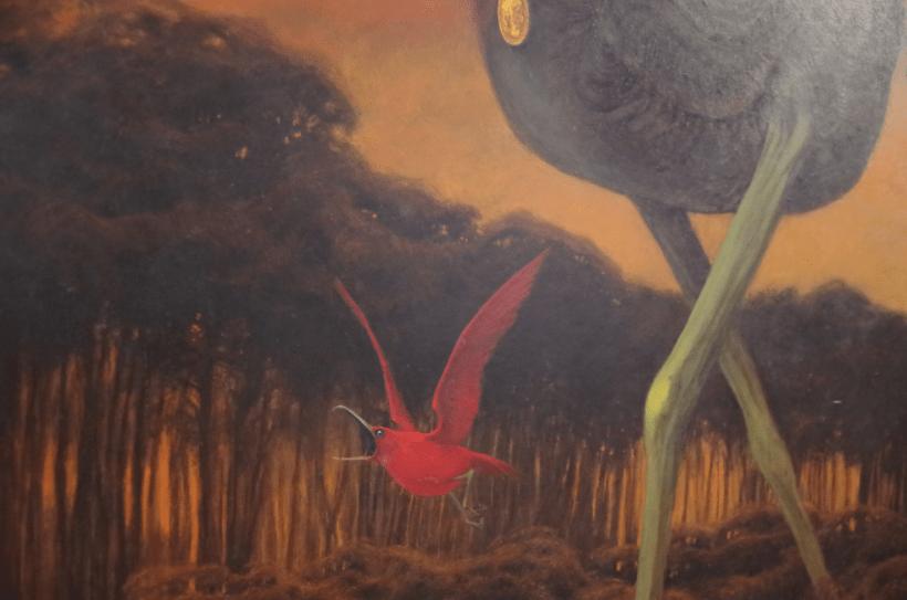 Zdzisław Beksiński - czerwony ptak