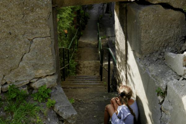 Domaszków - tajem,nicze schody przy kośćiele