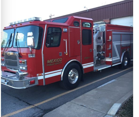 mexico public safety fire truck