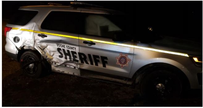 boone county patrol vehicle damage