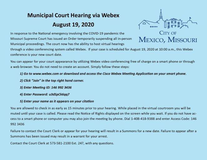 municipal court instructions