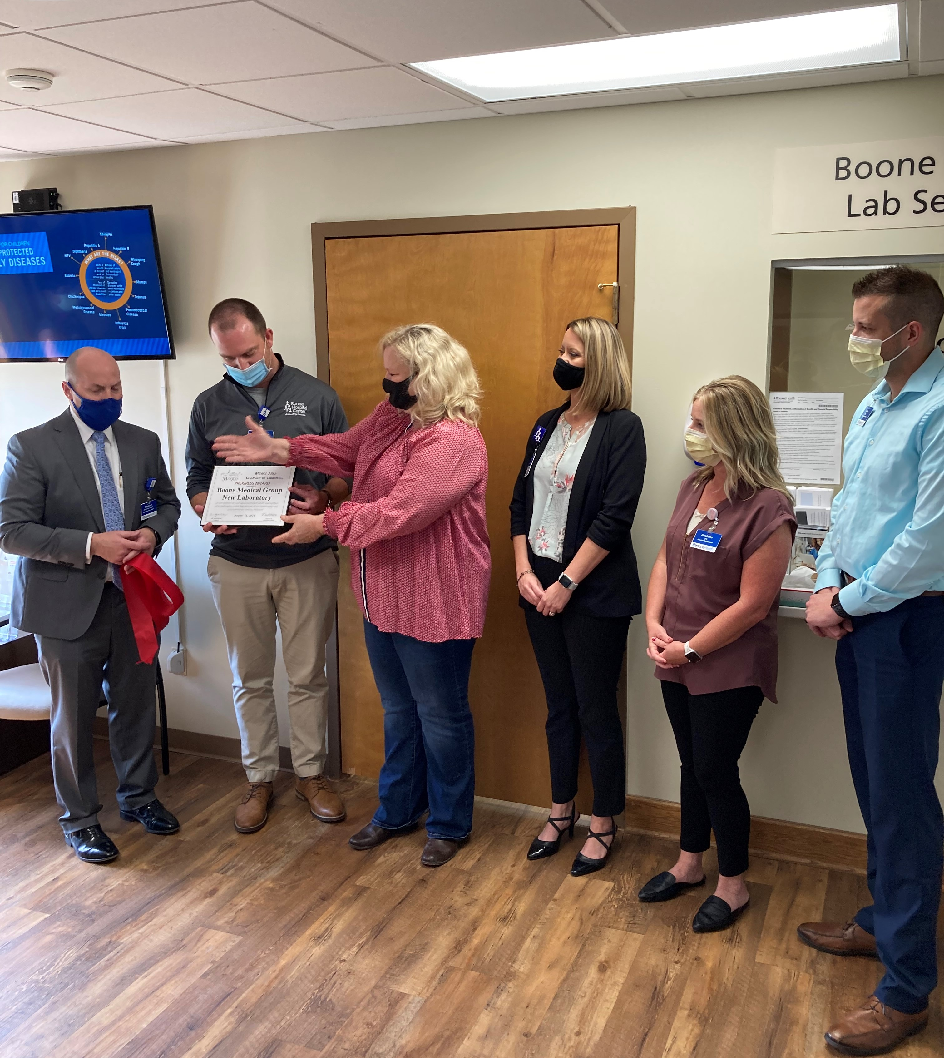 Ribbon Cutting For New Boone Medical Group Lab In Mexico