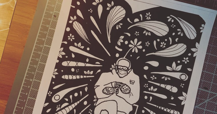Bernie & His Mittens: Free Printable Coloring Page