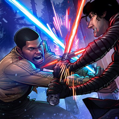 Finn vs Kylo Ren by Patrick Brown